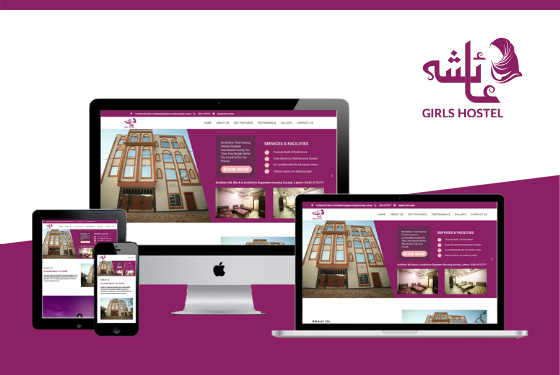 Ayesha Girls Hostel Website Design by Web Sapphire
