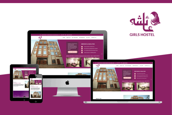 Ayesha Girls Hostel Lahore Website Project Featured Image Design by Web Sapphire