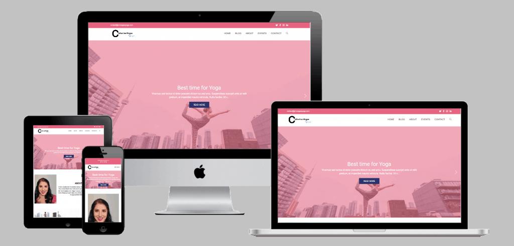 Catherine McGee Yoga Studio Website Multi Device Transparent Mock-up Design by Web Sapphire