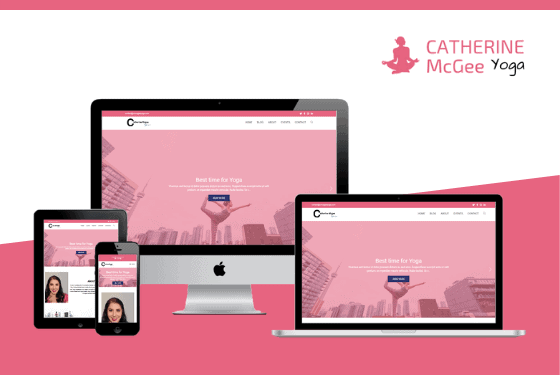 Catherine McGee Yoga Studio Website Project Featured Image Design by Web Sapphire