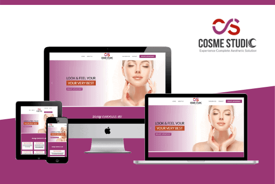 Cosme Studio Lahore Website Project Featured Image Design by Web Sapphire