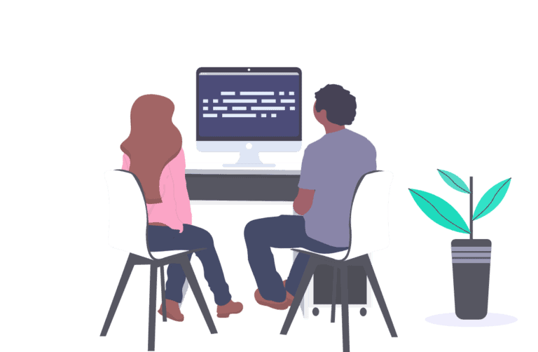 An illustration of Web Sapphire team working
